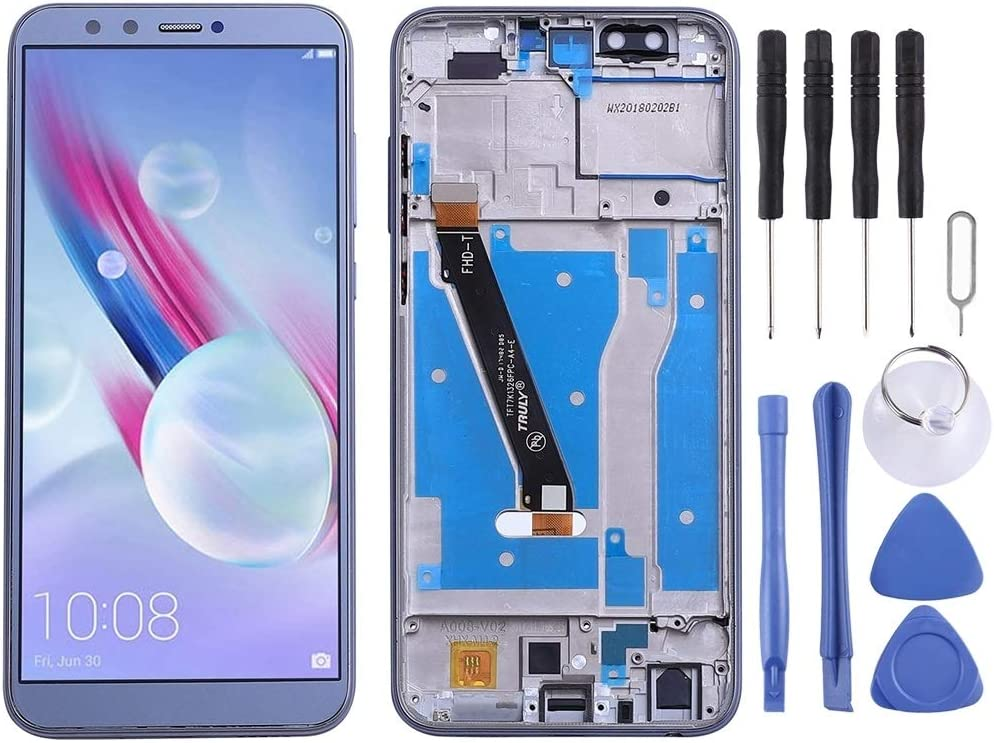 Black LCD Screen Replacement Spare Part LCD Screen and Digitizer Full Assembly with Frame for Huawei Honor 9 Lite Color : Black