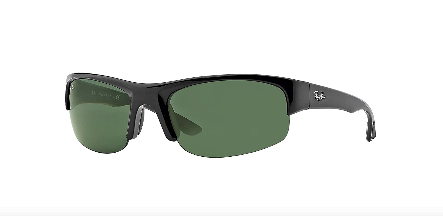 b0a57e2760e5 Amazon.com  Ray-Ban RB4173 - 601 71 Sunglasses Black w  Green Classic Lens  62mm  Ray-Ban  Shoes