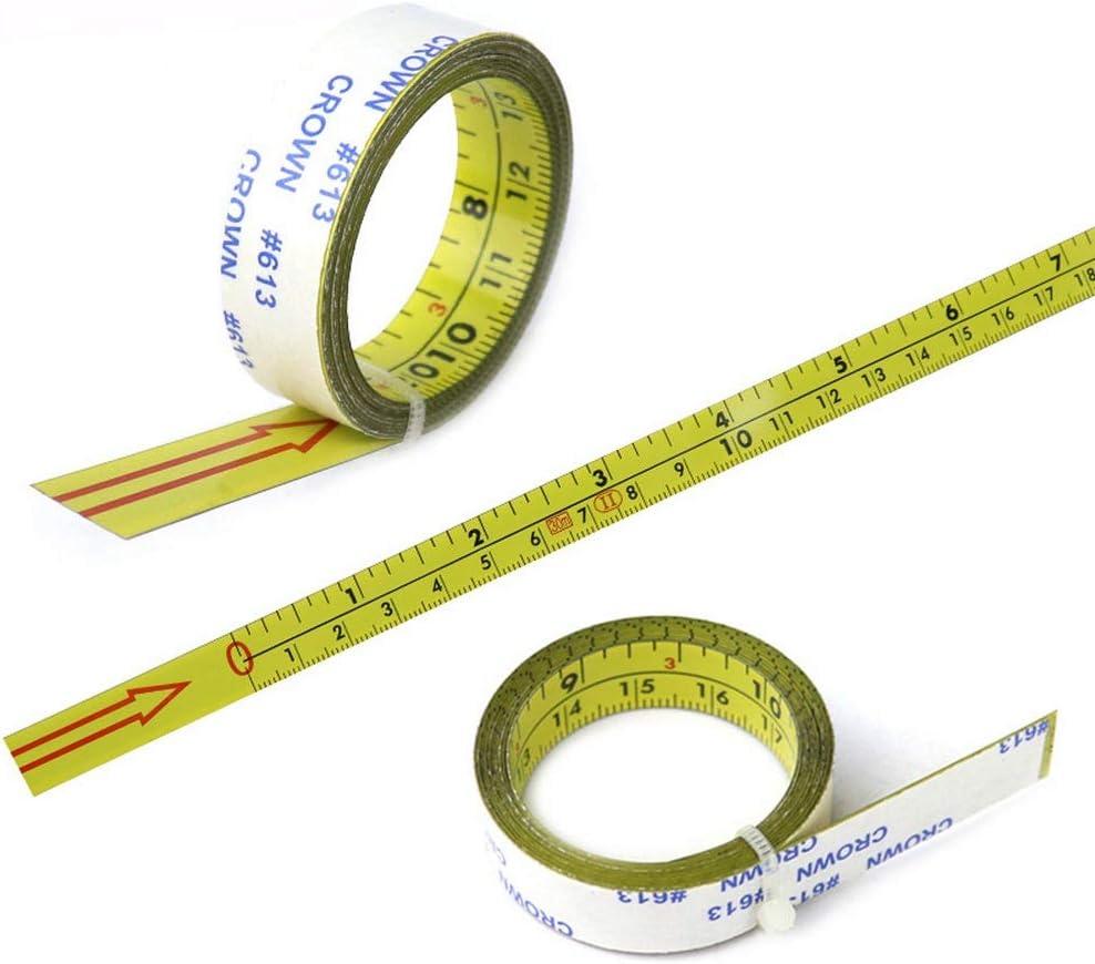 1 m // 2 m // 4 m // 5 m // 10 m Ruban /à mesurer autocollant Couture en bois Pour T-Track Router Ruban /à mesurer /à gauche vers la droite Autocollants en acier inoxydable UNJ
