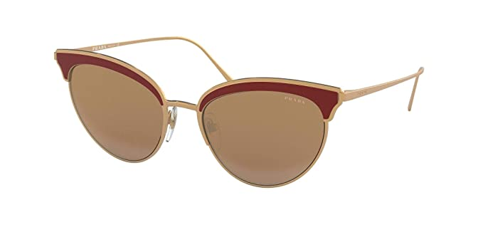Prada 0PR 60VS Gafas de sol, Rose Gold/Bordeaux, 54 para ...