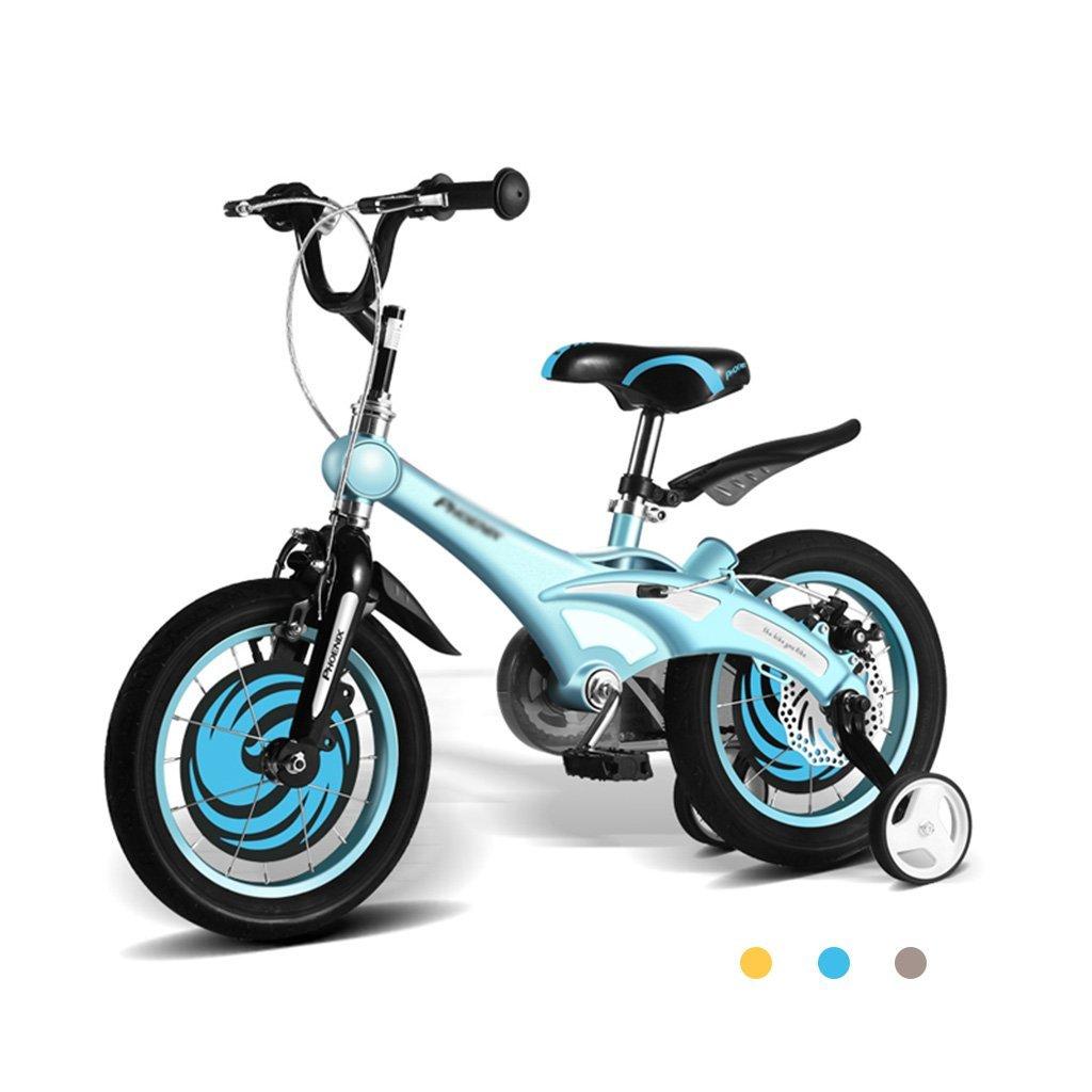 自転車マグネシウム合金フレーム子供の12インチ、14インチ、16インチのベビー用バイク2-8歳のベビーカーベビーは自転車を自転車で操作できます (Color : Blue, Size : 14 inches) 14 inches Blue B07G2Y1KSF