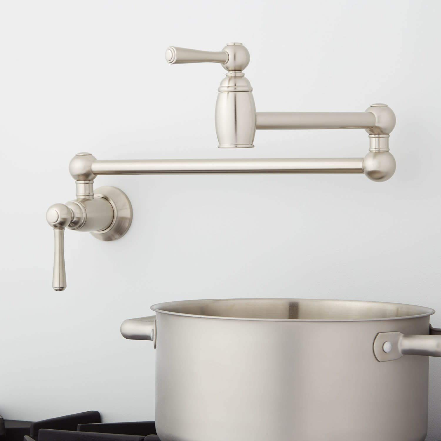 Signature Hardware 426926 Poncia 2.5 GPM Double Handle Wall Mounted Pot Filler