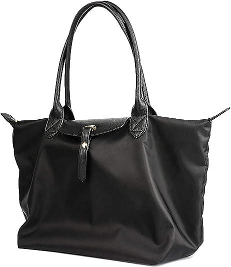 TCHH-DayUp Cotton Canvas Tote Beach Bag With Zipper Top Handle Handbag Shoulder Bags Shopping Bag