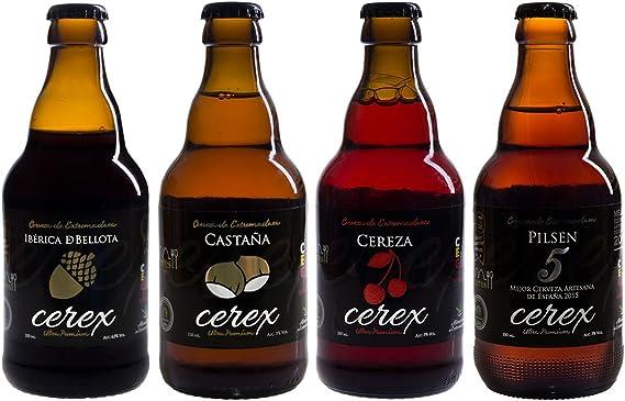 CEREX- Pack Degustación de 4 Botellas de Cerveza Artesana Gourmet ...
