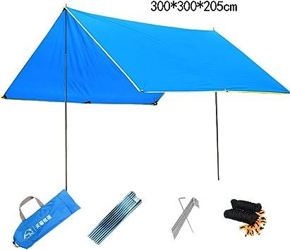 Toldo tienda de campaña al aire libre simple gran toldo de ocio pérgola protector solar lluvia abrigo playa salida tienda de campaña (Color : Green, Size : 300 * 300 * 205cm): Amazon.es: Bricolaje y herramientas