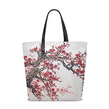Amazon.com : Drawn Cherry Tote Bag Purse Handbag Womens Gym ...
