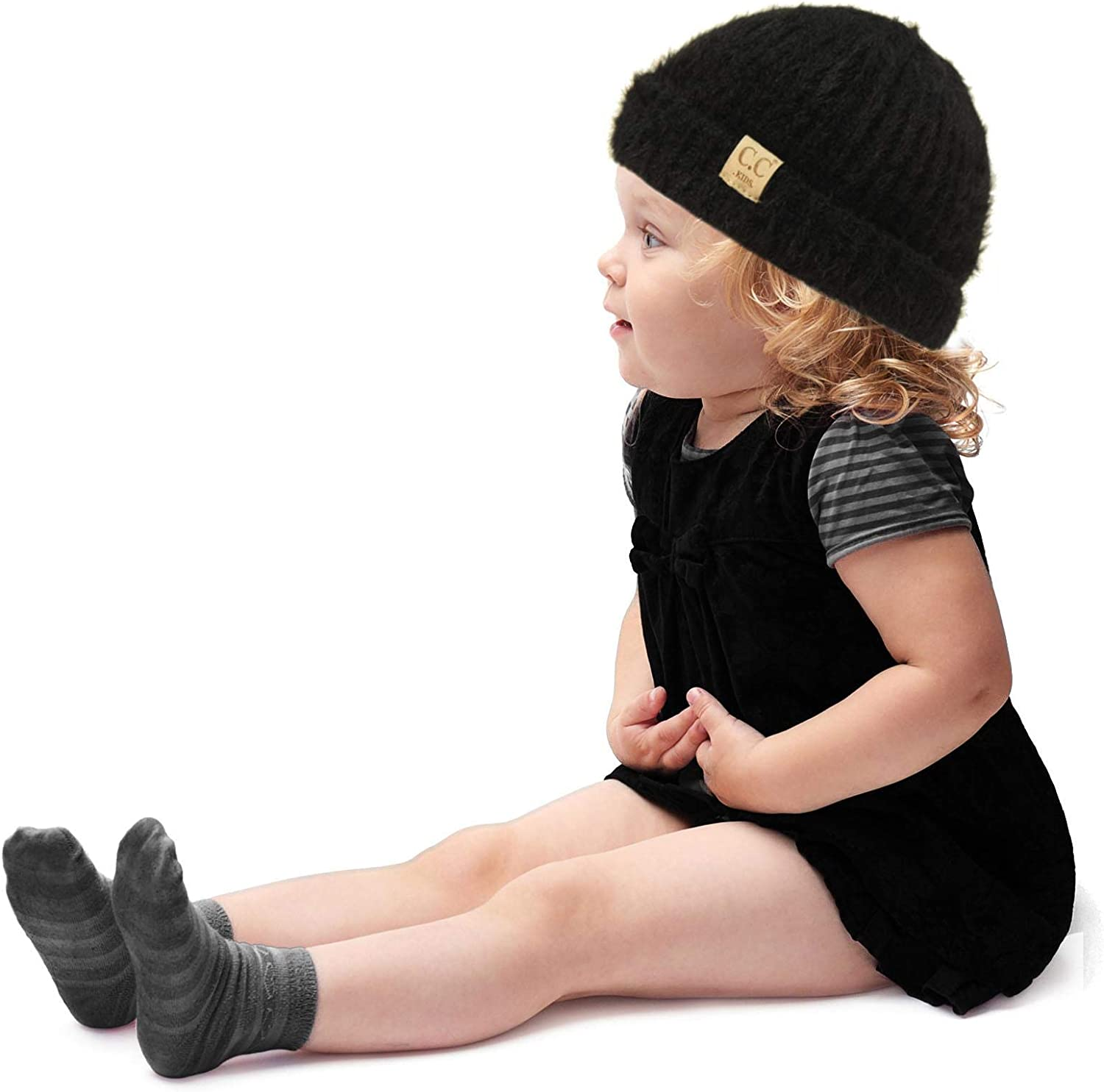 Kids Ages 1-5 Ultra Soft Chenille Thick Stretchy Knit Winter Beanie Cap