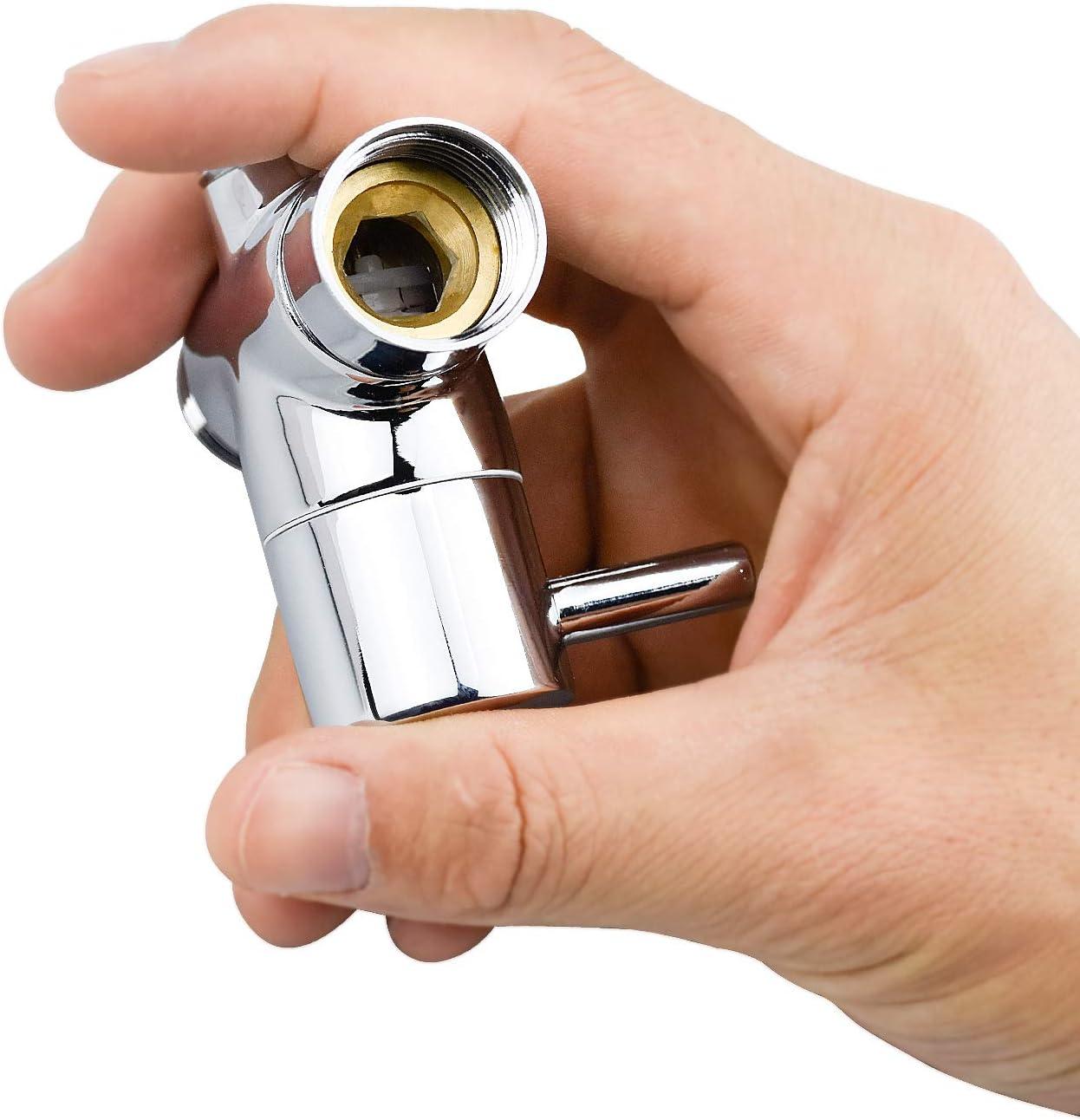 V/álvula de Adaptador en T para Recambio de Sistema de Ducha Lat/ón Cromado G1//2 WEKON Desviador de Ducha 3 V/ías 20mm Adaptador Interruptor de V/álvula de Ducha 2.7 * 2.5/´ V/álvula de Desv/ío de Ducha