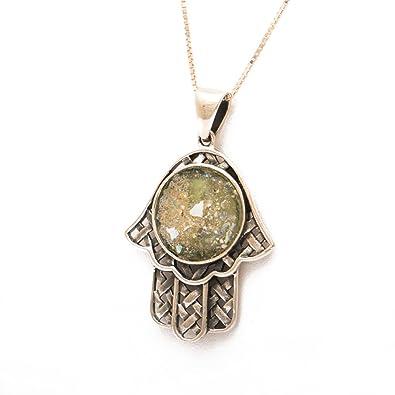 Römische Glasanhänger Halskette. Authentisch & luxuriös mit ...