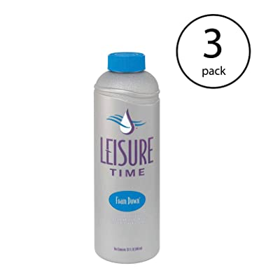 LEISURE TIME Spa Support Concentrated 32 Ounce Foam Down Suppressant (3 Pack) : Garden & Outdoor