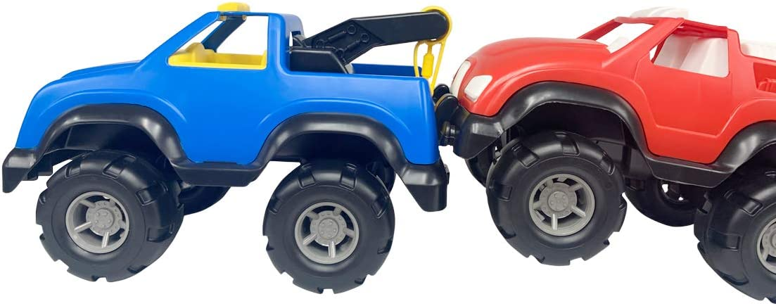 Boys Girls 3 Years and Older Orange Durable Heavy Duty Vehicle for Play Indoor Outdoor Blue Two Big Trucks -15 Inch Body /& Dump Truck Made in The USA Tow Truck Tim Mee Toys Heavy Hauler