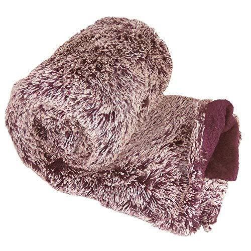 Plum Purple 50 x 60 BNF Home BNFTHR5060WMMPP BOON Wholly Mammoth Throw Blanket 50 x 60