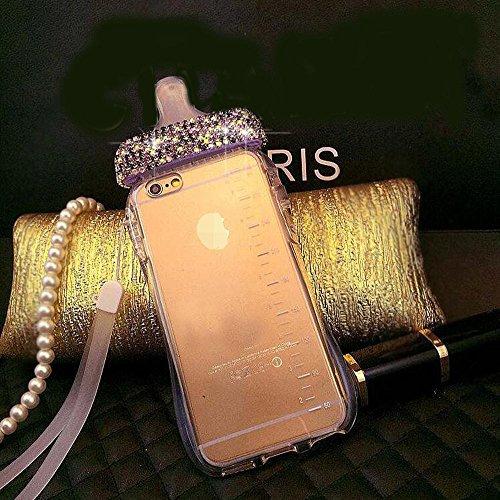 Iphone 6/6s Case,Jesiya Super Cute 3D Feeding-Bottle Shape Design Handmade Crystal Diamond Soft TPU Case Cover For Iphone 6/6s 4.7(Feeder)