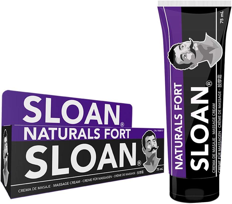 Sloan Naturals Fort - crema de masaje Ingredientes naturales