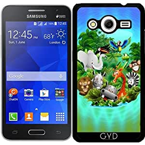 Funda para Samsung Galaxy Core 2 SM-G355 - Historieta Salvaje Animales De La Selva by BluedarkArt