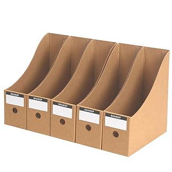 15000p 5 unidades revistero cartón documentos Caja revistero de oficina Desktop Organizador para libros documentos