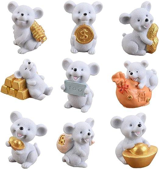 Set of 12 Bears Fairy Garden Figurine Crafts Micro Landscape Decor DIY Gift