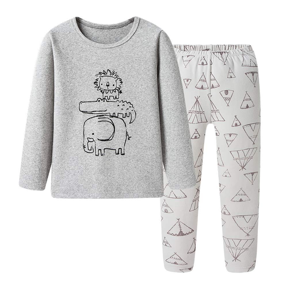 Boys Kids Soft Cotton Long Sleeve Pajamas Nightwear Sleepwear Sets Tops /& Pants
