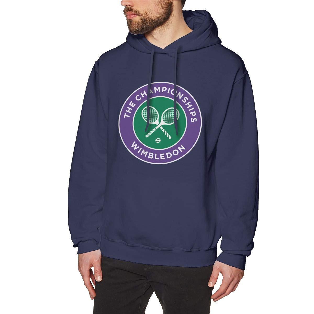 GUPINGER Men 2016 Wimbledon Championships Four Grand Slam Tennis Tournament Logo Warmth Navy Hoodie Sweatshirt Jacket Pullover Tops
