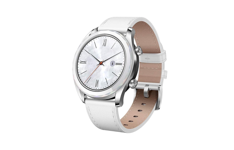Huawei Watch GT 2019 ELA-B19 (42mm) BT Version, Water Proof, Fluoroelastomer White Band Elegant Edition