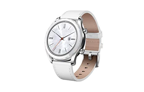 Huawei Watch GT 2019 ELA-B19 (42mm) BT Version, Water Proof, Fluoroelastomer White Band Elegant Edition