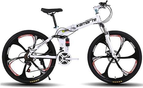 WGYEREAM Bicicleta de Montaña, Barranco Plegable Bicicleta de ...