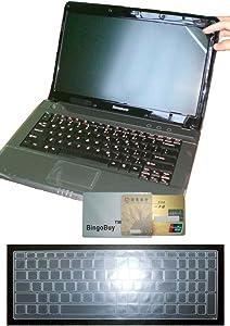 "US Layout Keyboard Skin Cover + 15.6'' anti glare & scratch & fingerprint Screen Protector for Lenovo Flex 4 (15""), Ideapad 510 (15""), 310 (15""), 110 (15"") (clear)"