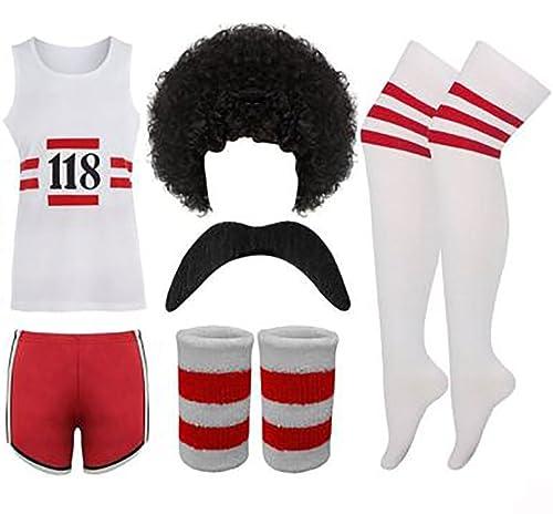 """118 Fancy Dress Mens Ladies Costume Complete Set Marathon Retro Outfit 38"""" Chest"""