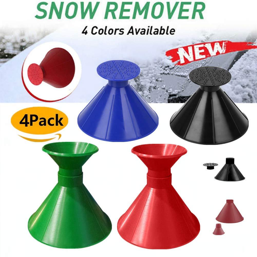 Boscoraggio Magic Scraper Round - Ice Scrapers Magic Funnel Snow Removal Tool Windshield Cone-Shaped Car (4Pack-1) by Boscoraggio