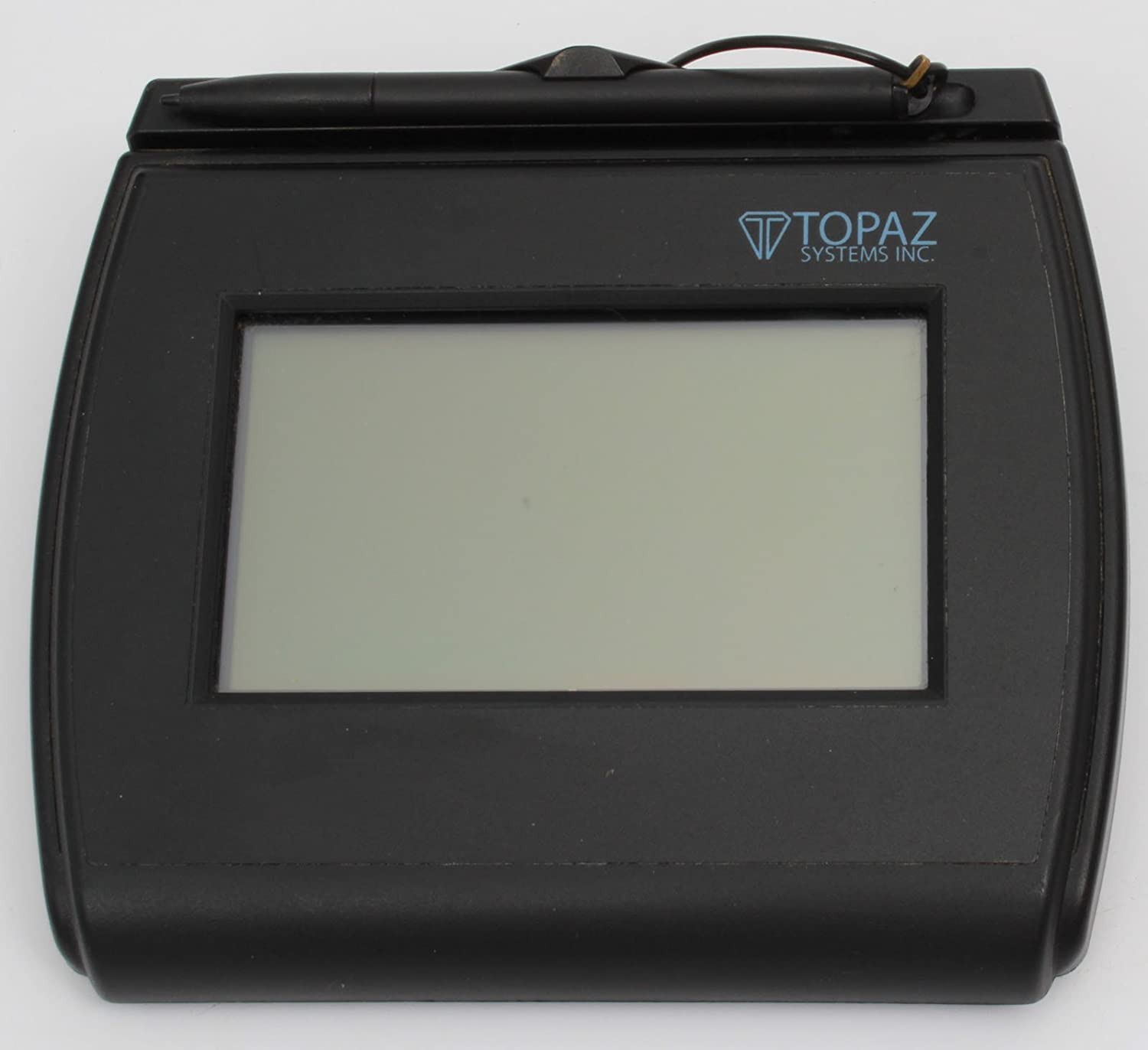 Topaz T LBK750 BHSB R Backlit 4x3 LCD Signature Capture Pad Dual Serial USB