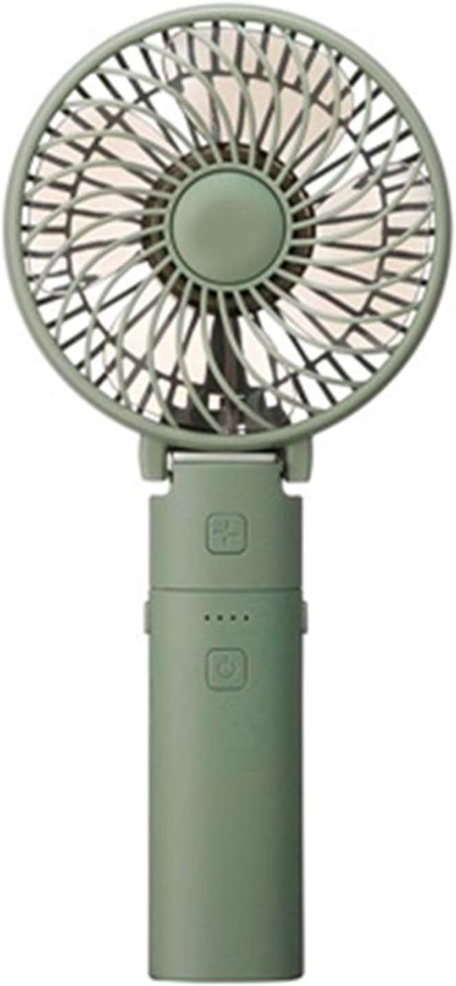 Color : Green Air Cooler Handheld Portable USB Fan Detachable Design Electric Fan 3 Gear Speed Indoor Desktop Personal Fans