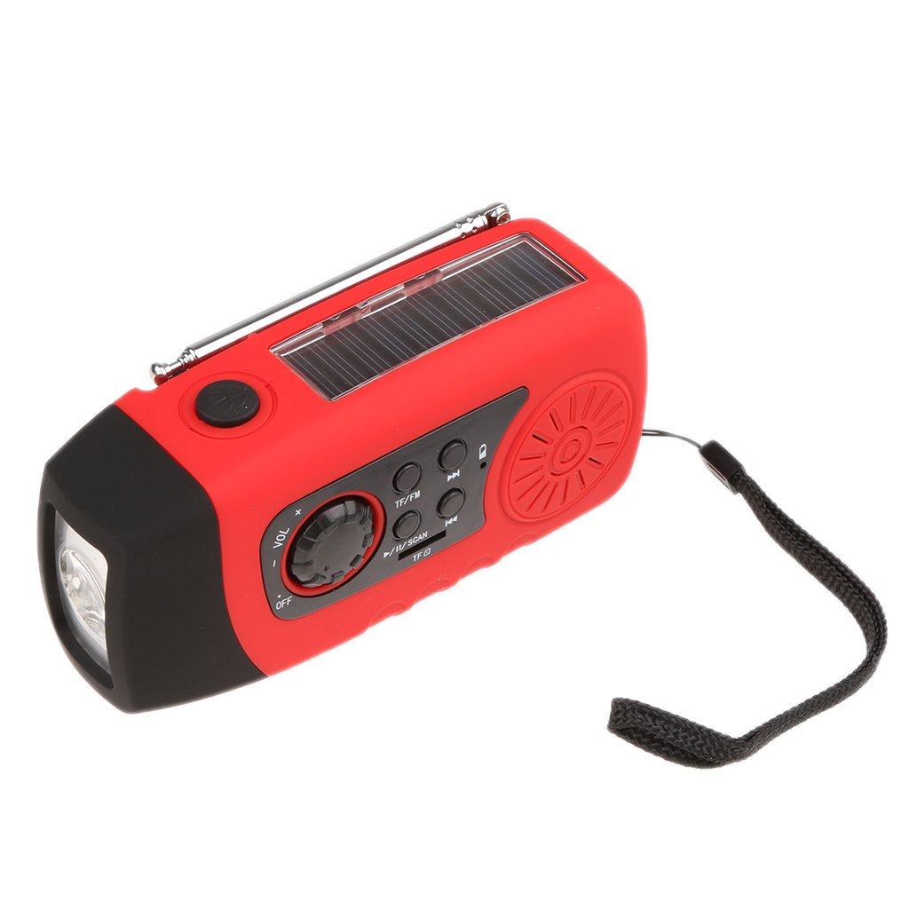 Jili Online Digital Emergency Solar Hand Crank AM/FM/NOAA Radio Flashlight Power Charger