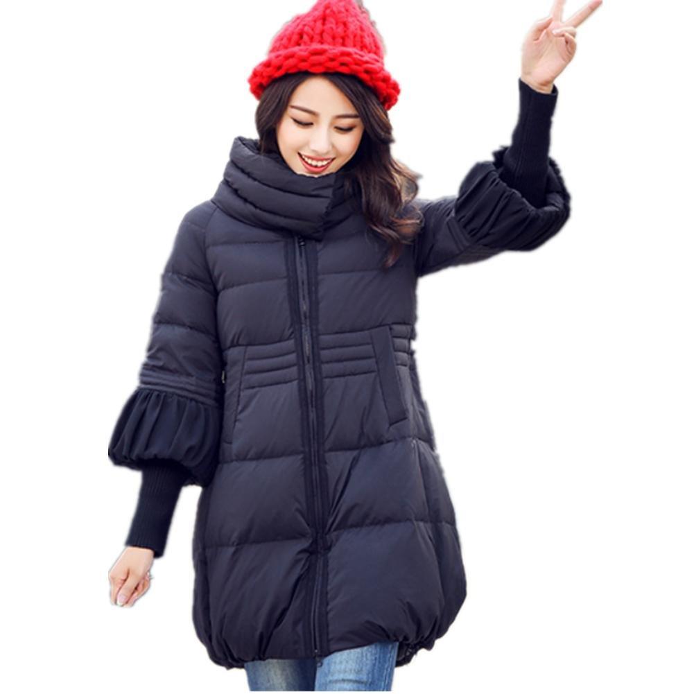 SHISHANG New Lady Down Cotton Suit Winter Mujer a-Character Capa larga grande Swinging Coat Gacket D...