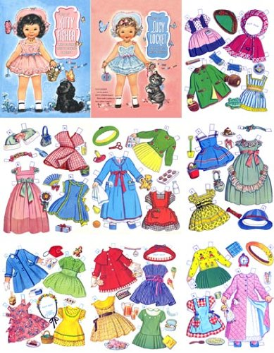 Storybook Costumes For Dolls (Lucy Locket & Kitty Fisher Restored 1949 Paper Doll)