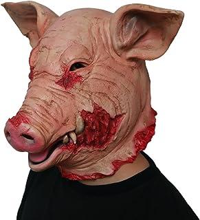 JLA Masque Effrayant d'halloween, Tête De Porc d'horreur, pour Le Divertissement De Bar De Partie, Masque en Latex Normal, pour des Enfants Et des Adultes