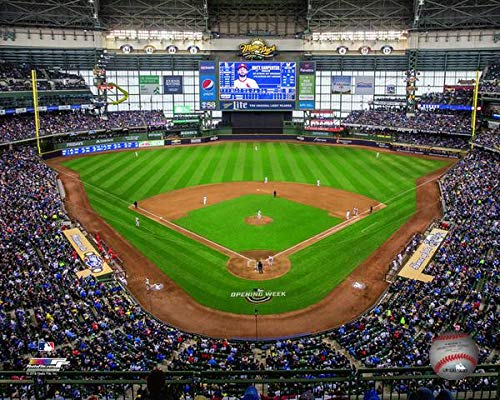 Miller Park Milwaukee Brewers MLB Stadium Photo (Size: 8