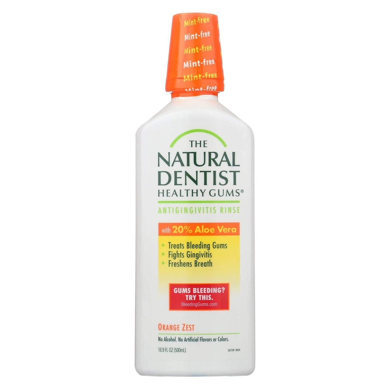 2 Pack of The Natural Dentist Daily Healthy Gums Antigingivitis Rinse Orange Zest 16.90 oz
