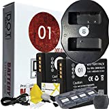 DOT-01 2X Brand Panasonic Lumix DC-ZS70 Batteries and Dual Slot USB Charger for Panasonic Lumix DC-ZS70 4K Digital Camera and Panasonic ZS70 Accessory Bundle for Panasonic BLG10 DMW-BLG10