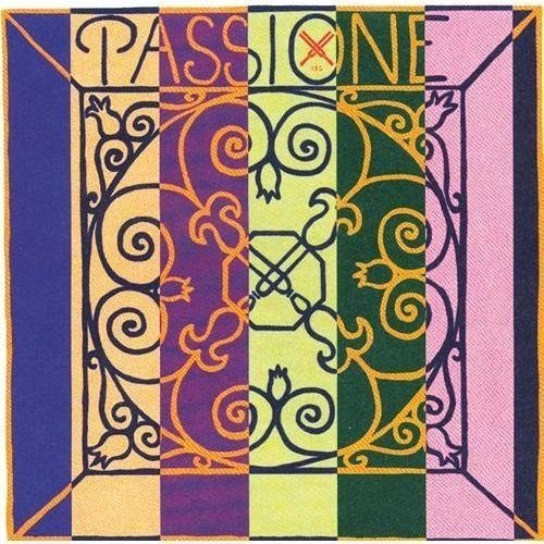 Pirastro Passione Orchestra Tuning Bass Strings - Set, 3/4, Chromesteel/Rope Core, Medium, Ball