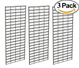 Econoco Metal Slat Grid for Any Retail Display, 2' Width x 5' Height, 3 Grids Per Carton (Black)