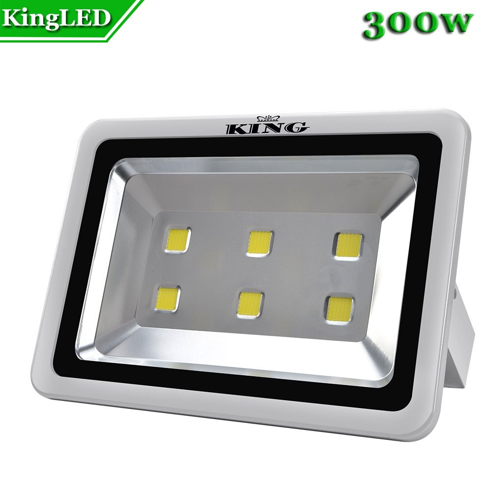 King 300W High Power LED Flood Light Daylight White 6500K Waterproof Outdoor lighting Spotlight Wall Garden Projector AC100-240V