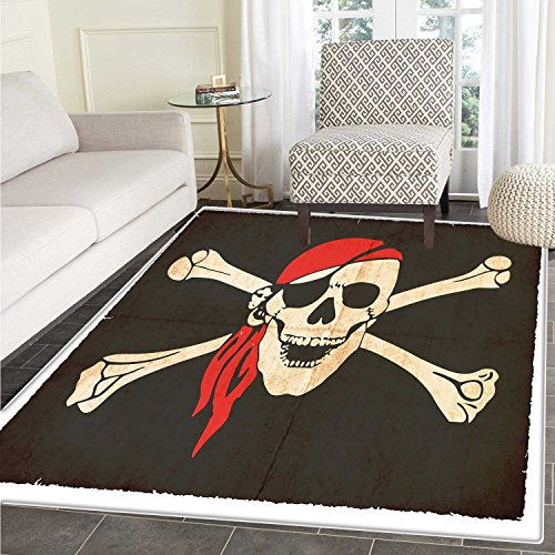 Pirate Customize Floor mats for home Mat Flag of Tierra del
