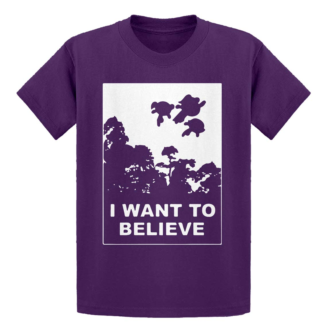 Indica Plateau Youth I Want to Believe Super Girls Kids T-Shirt