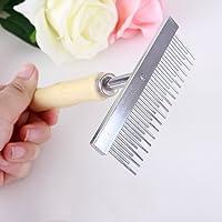 QR Professional Large Dogs Hair Brush Long Short Hair Comb Rake,Pet Fur Knot Remove,Long Tooth Undercoat Dog Rake,Undercoat Rake Shedding Brush for Dogs, Cats
