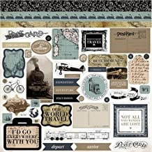 "Old World Travel Cardstock Stickers 12""X12""-"