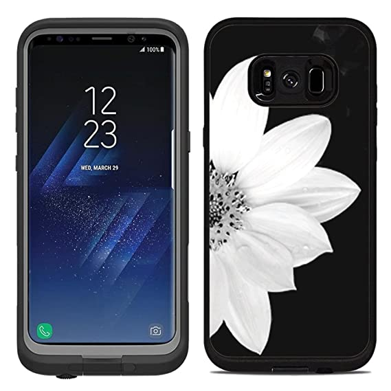 the latest 3418f 313be Protective Designer Vinyl Skin Decals/Stickers for Lifeproof Fre Samsung  Galaxy S8 Plus Case -Sunflower Black and White Design Patterns - Only Skins  ...