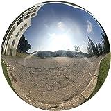 HomDSim 25 cm/10 inch Diameter Gazing Globe Mirror Ball,Silver Stainless Steel Polished Reflective Smooth Garden Sphere…