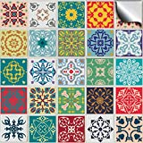 "Tile Style Decals 24 Kitchen Tile STICKERS For 6 inch (15cm) Square Tiles – Directly From, No Middleman tP50 (6"" Pack of 24)"