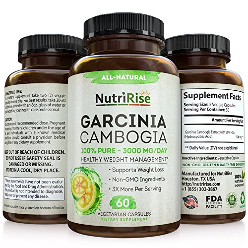 100  Pure Garcinia Cambogia Extract With Hca For Fast Fat Burn  Best Appetite Suppressant   Carb Blocker  Natural  Clinically Proven Weight Loss Supplement  Best Garcinia Cambogia Raw Diet Pills
