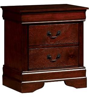 Furniture Of America CM7866CH N Louis Philippe III Cherry Nightstand